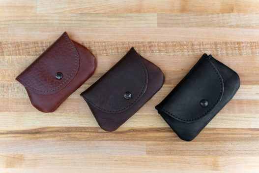 Mens Coin Purse - Buffalo Leather - Made in USA