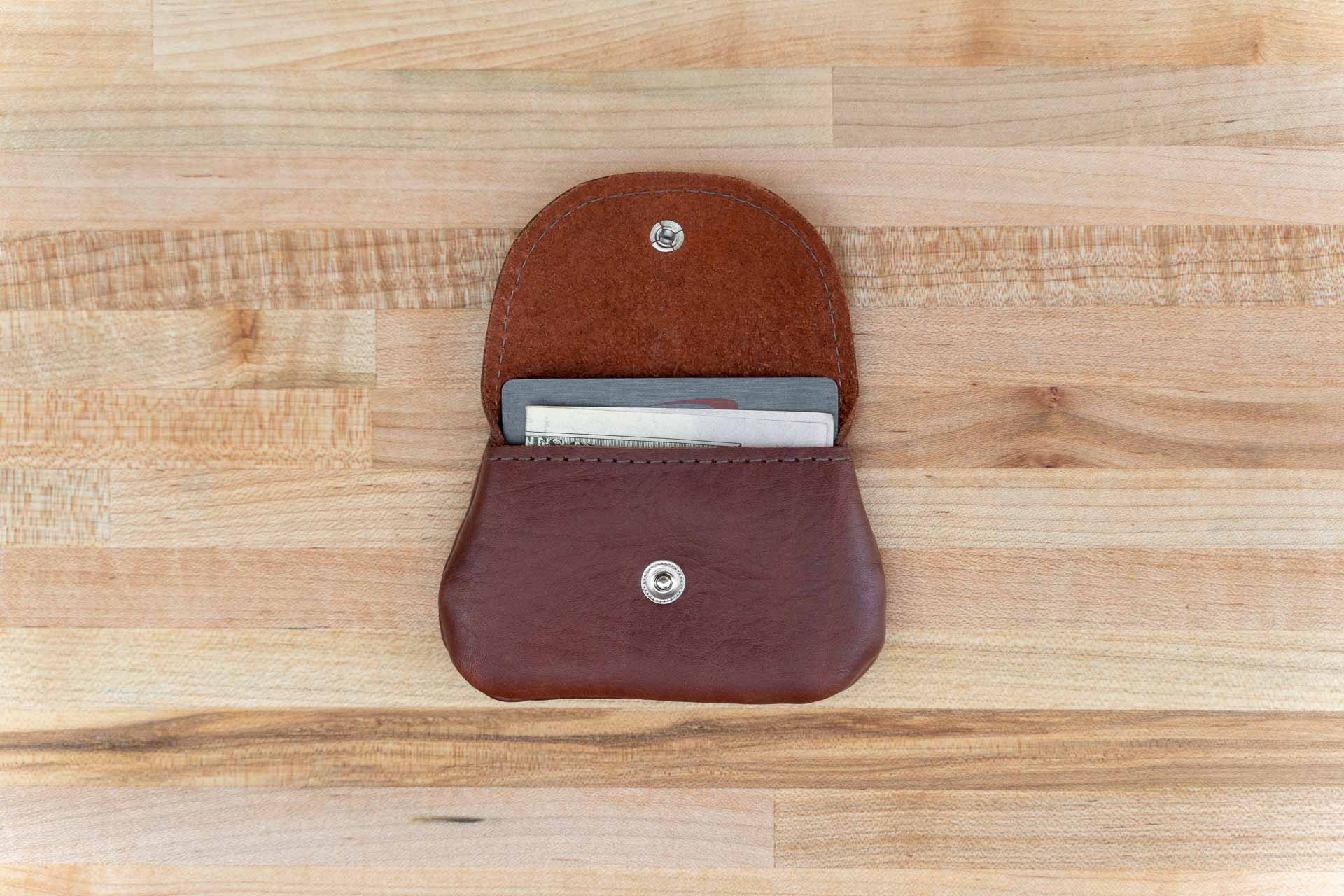 Snap Coin Purse - Red Leather