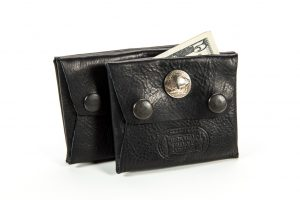 Pocket Coin Holder - Buffalo Leather - Made in USA