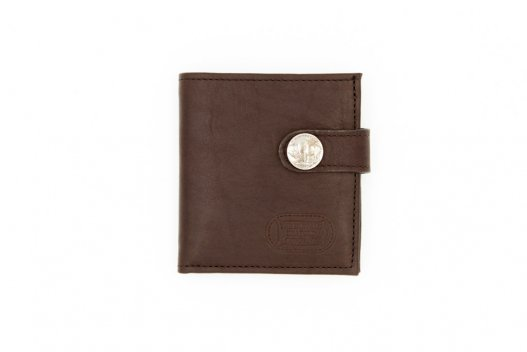 Snap Closure Wallet - Leather Wallet - Made in USA