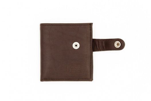 Leather Snap Wallet - Snap Closure Wallet