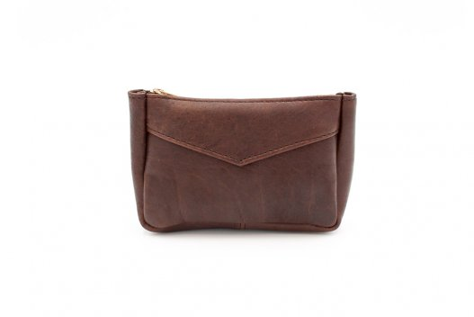 Small Leather Pouch - Brown
