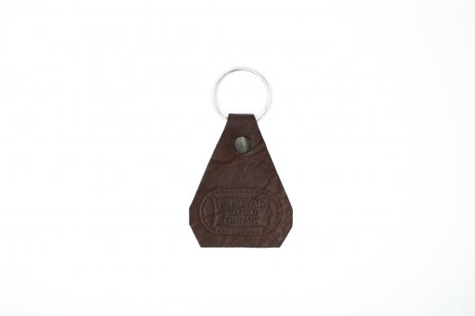 Brown Buffalo Leather Keychain - Made USA