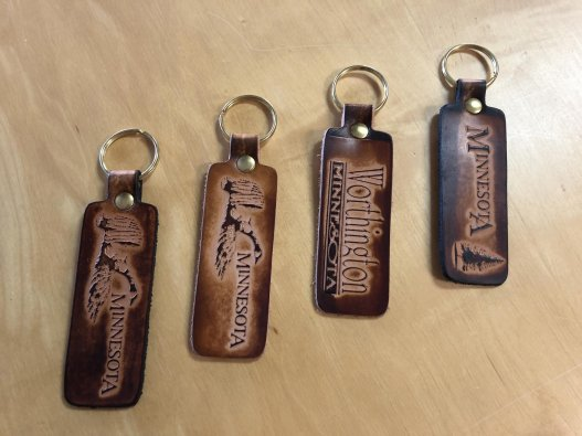 Minnesota Leather Keychains - Made in Minnesota