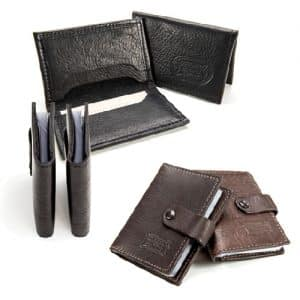 Handmade Buffalo Leather Card Cases - Made in USA