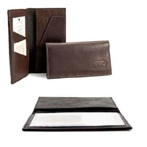 Handmade Buffalo Leather Checkbook Covers
