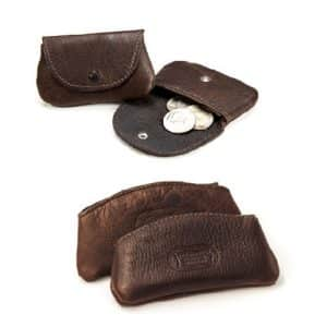 Handmade Buffalo Leather Coin Cases