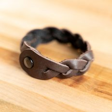 Mystery Braid Leather Bracelet - Made in USA