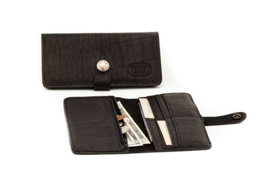 Dakota Slim - Womens Slim Leather Wallet - Black