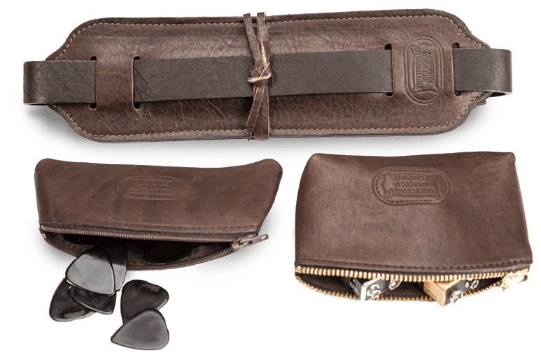 Handcrafted Leather Guitar Accessories | Buffalo Billfold Company