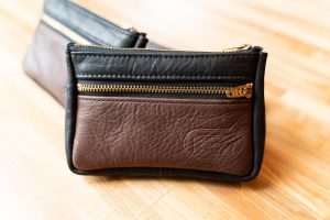 Giddy Up Clutch Purse - Black and Brown Leather