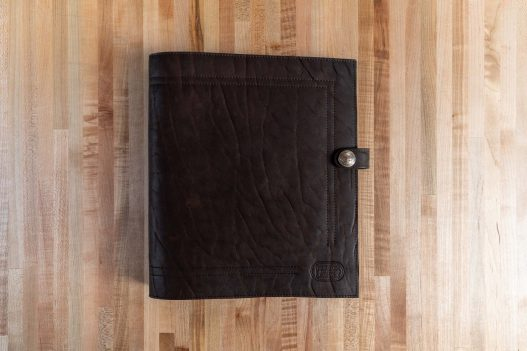 Dark Brown Leather 3 Ring Binder - Made in USA