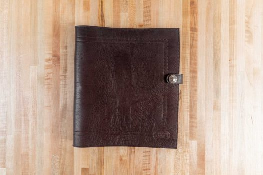 Brown Leather 3 Ring Binder - Front