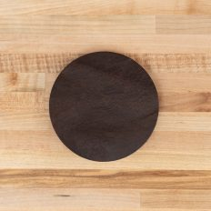 Round Leather Coasters - Brown